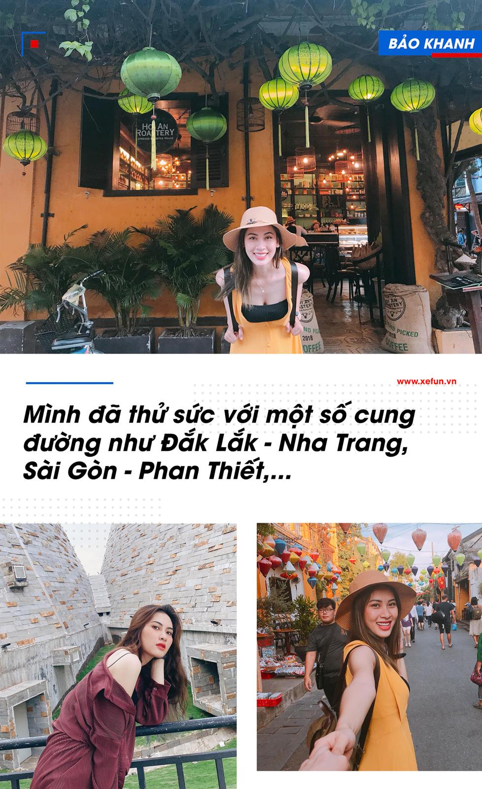 Angels Bảo Khanh chia sẻ: Mình đã có cơ hội cưỡi trên Yamaha R6 đi một số cung đường như Đắk Lắk - Nha Trang, Sài Gòn - Phan Thiết