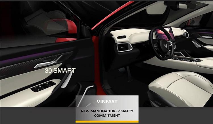Một mẫu xe của VinFast trong hạng mục trao giải của tổ chức Asean NCAP.