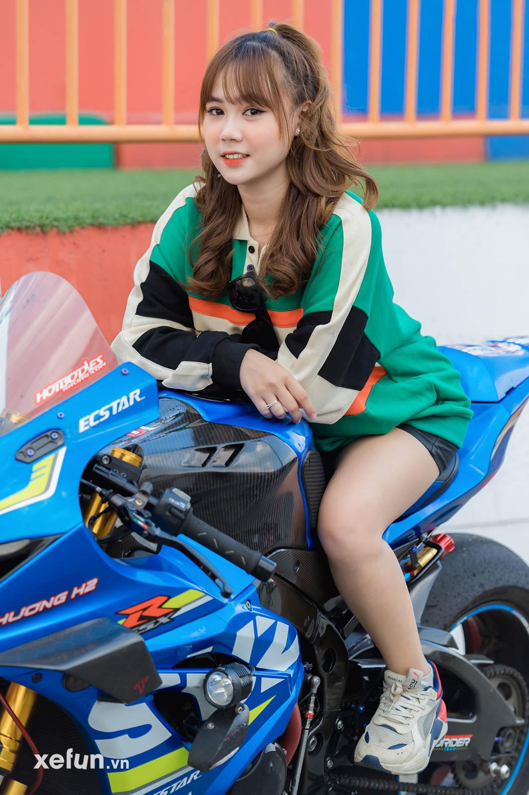 biker Minh Tú trên chiếc Suzuki GSX R1000 tại trường đua Đại Nam và hot girl Go Kart (19)34645