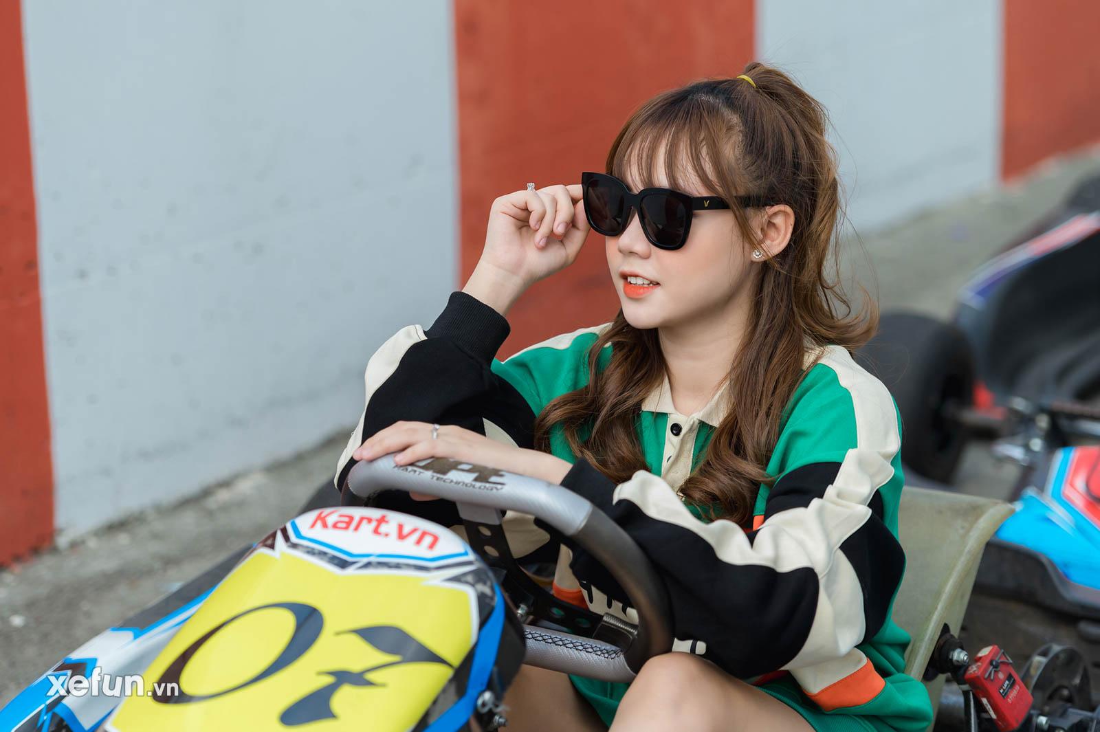 biker Minh Tú trên chiếc Suzuki GSX R1000 tại trường đua Đại Nam và hot girl Go Kart (2)3454