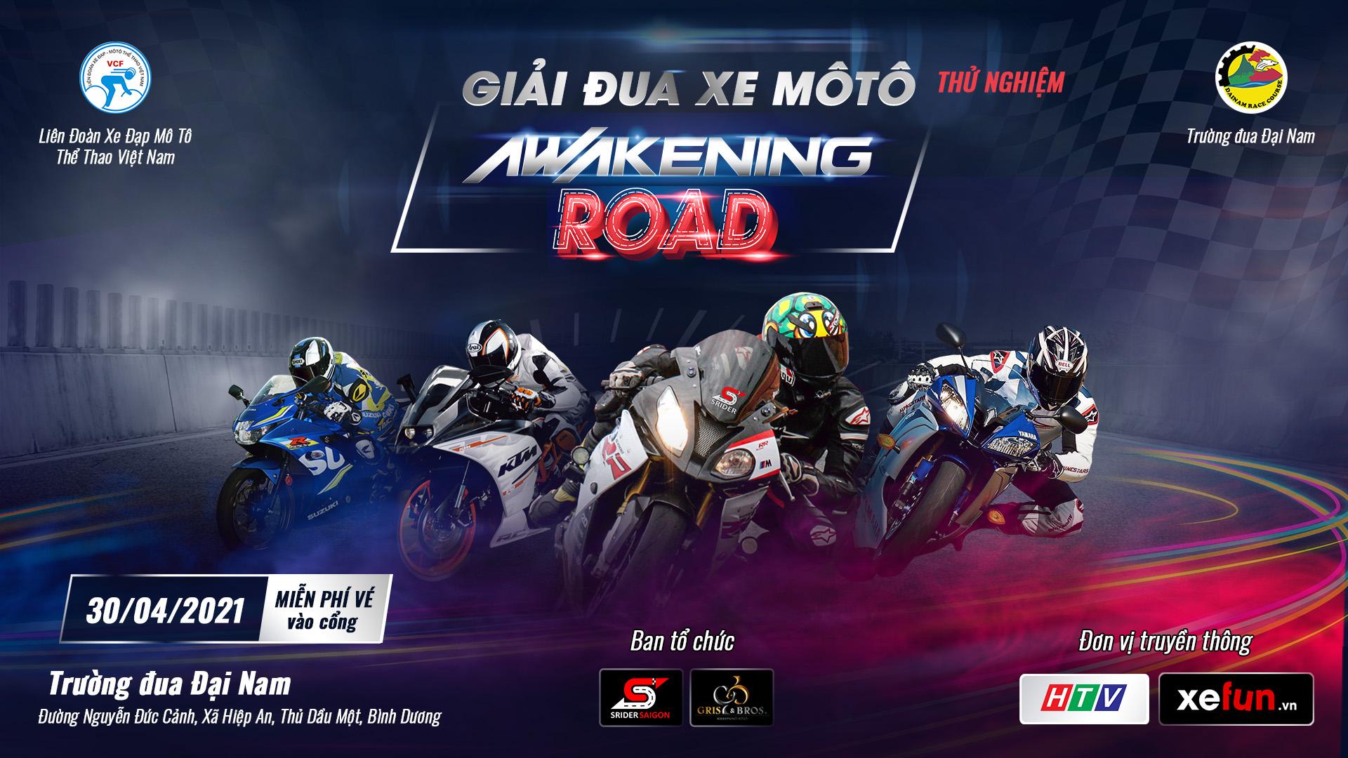 Đăng ký và quy định tham gia Giải đua xe Môtô thử nghiệm Awakening Road trên Xefun