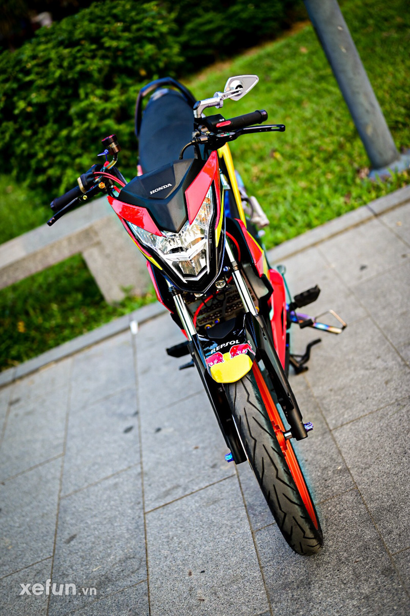 Honda Sonic 150 độ _ Honda sonic redbull - Xefun