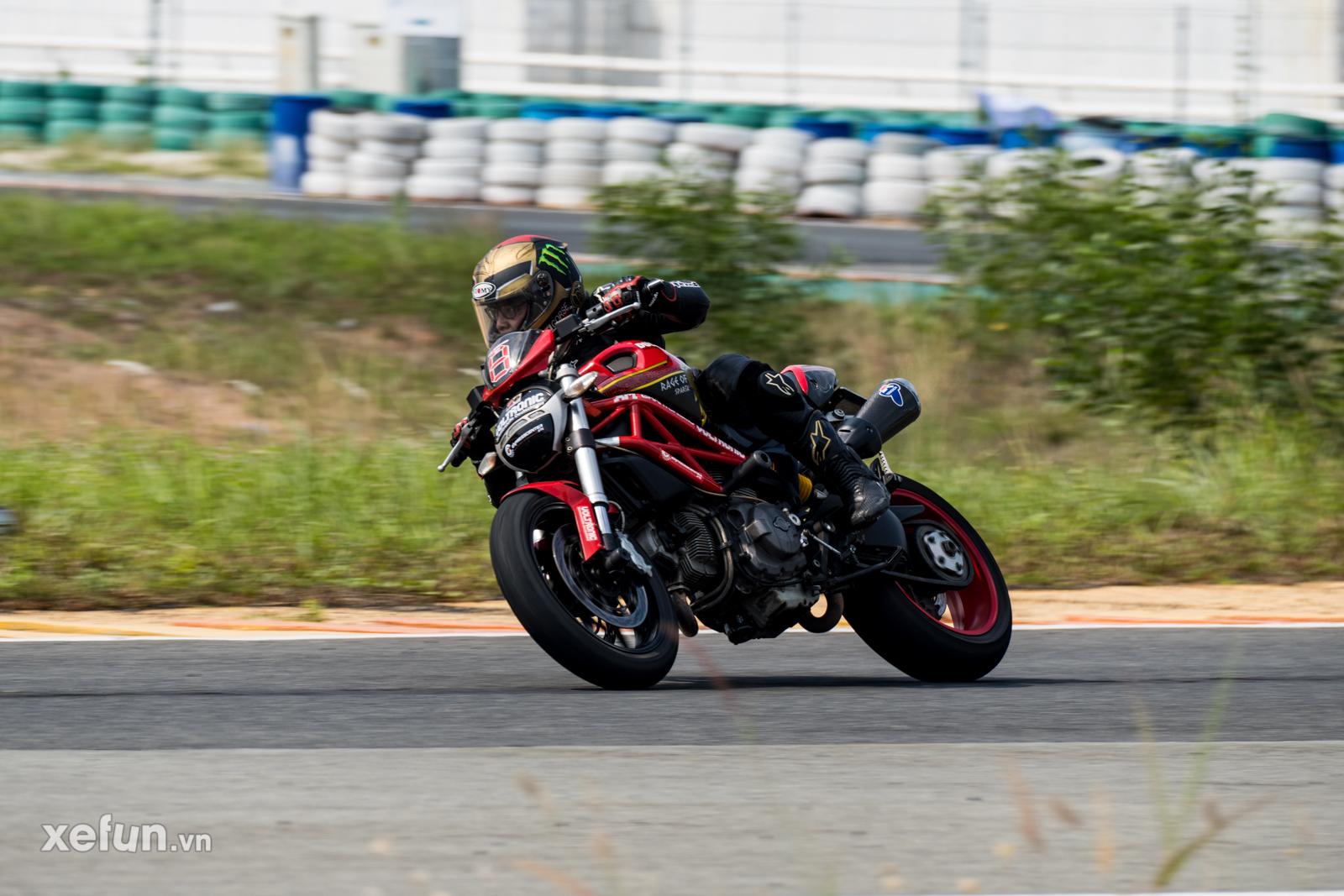 Các tay đua nài xe phân khối lớn PKL BMW S1000RR Ducati Monster Kawasaki Ninja ZX10R tại Trường đua Đại Nam trên Xefun (63)4354
