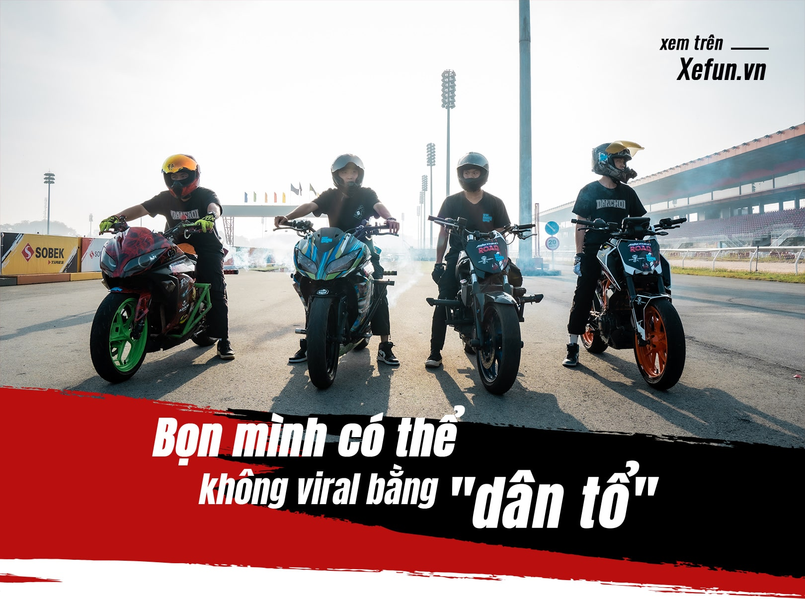 Hanoi Stunt Riders biểu diễn Trường đua Đại Nam giải đua Awakening road trên Xefun - 835t5y5