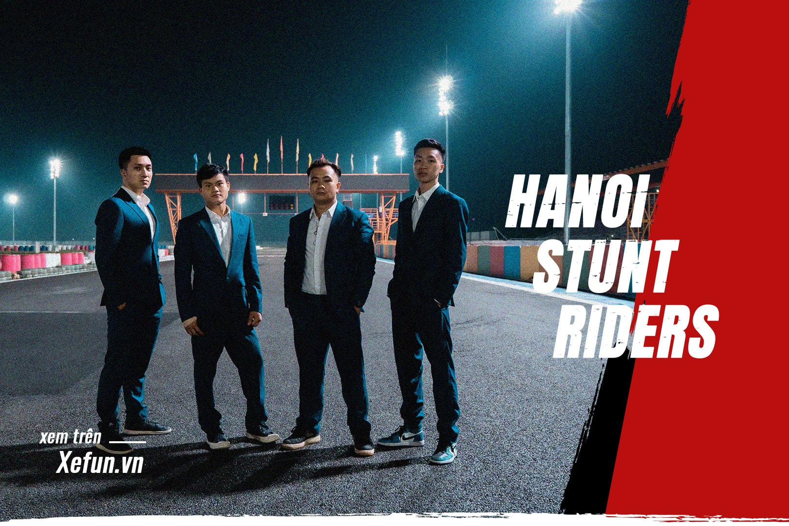 Hanoi Stunt Riders biểu diễn Trường đua Đại Nam giải đua Awakening road trên Xefun - 845t5y56