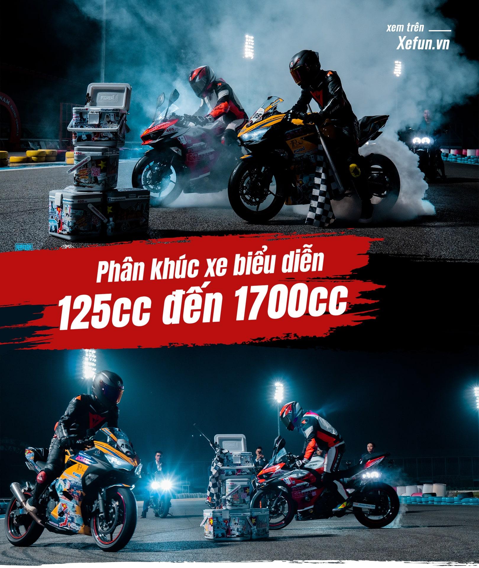 Hanoi Stunt Riders biểu diễn Trường đua Đại Nam giải đua Awakening road trên Xefun - 8546