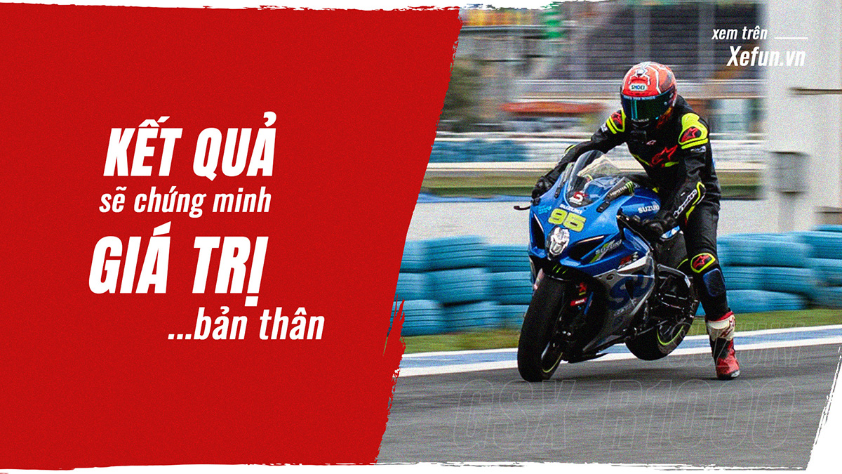 Phá kỷ lục nhanh nhất Việt Nam ở hệ xe Suzuki GSX-R1000 của anh Cương Cào Cào Trung tâm SRIDER Sài Gòn Xefun - 1