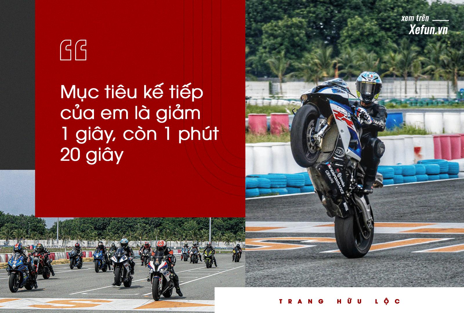 Trang Hữu Lộc thành tích 1 phút 21 giây chỉ trong 20 vòng chạy trường đua Đại Nam hệ 1000cc BMW S1000RR Xefun (1)-min536