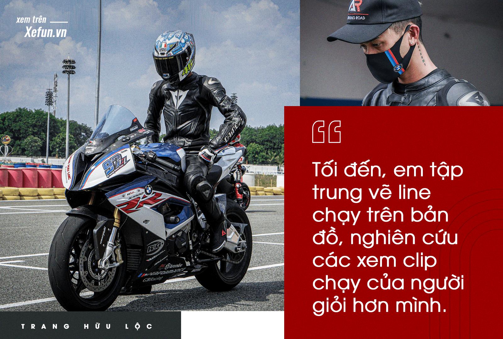 Trang Hữu Lộc thành tích 1 phút 21 giây chỉ trong 20 vòng chạy trường đua Đại Nam hệ 1000cc BMW S1000RR Xefun (1)-min97