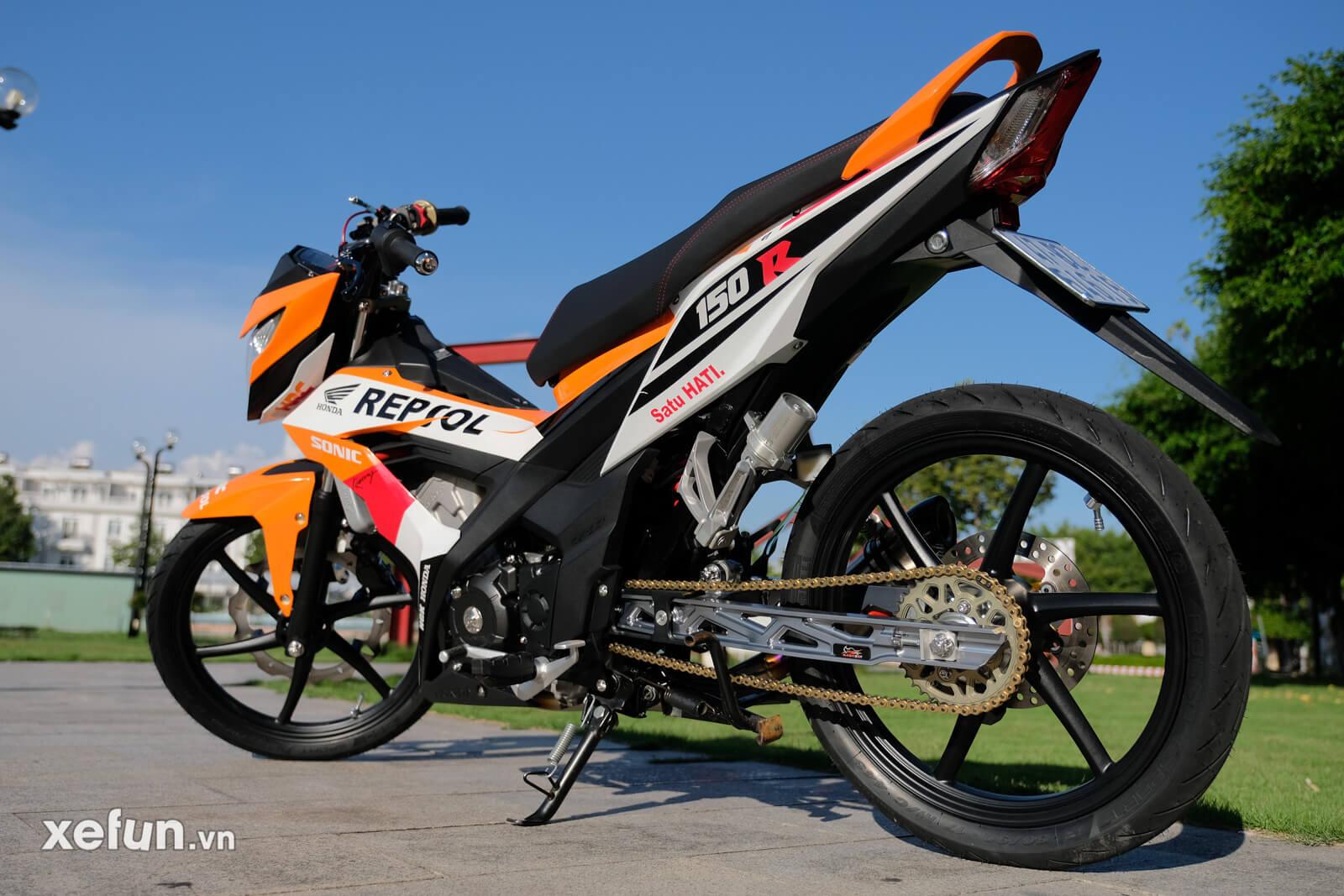 Honda sonic 150r độ 65 + 4 gia 80 trieu Xefun16