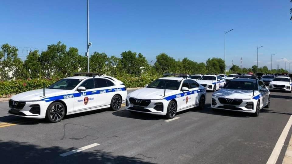 Vinfast trang bị cho CSGT Cảnh sát giao thông Xefun