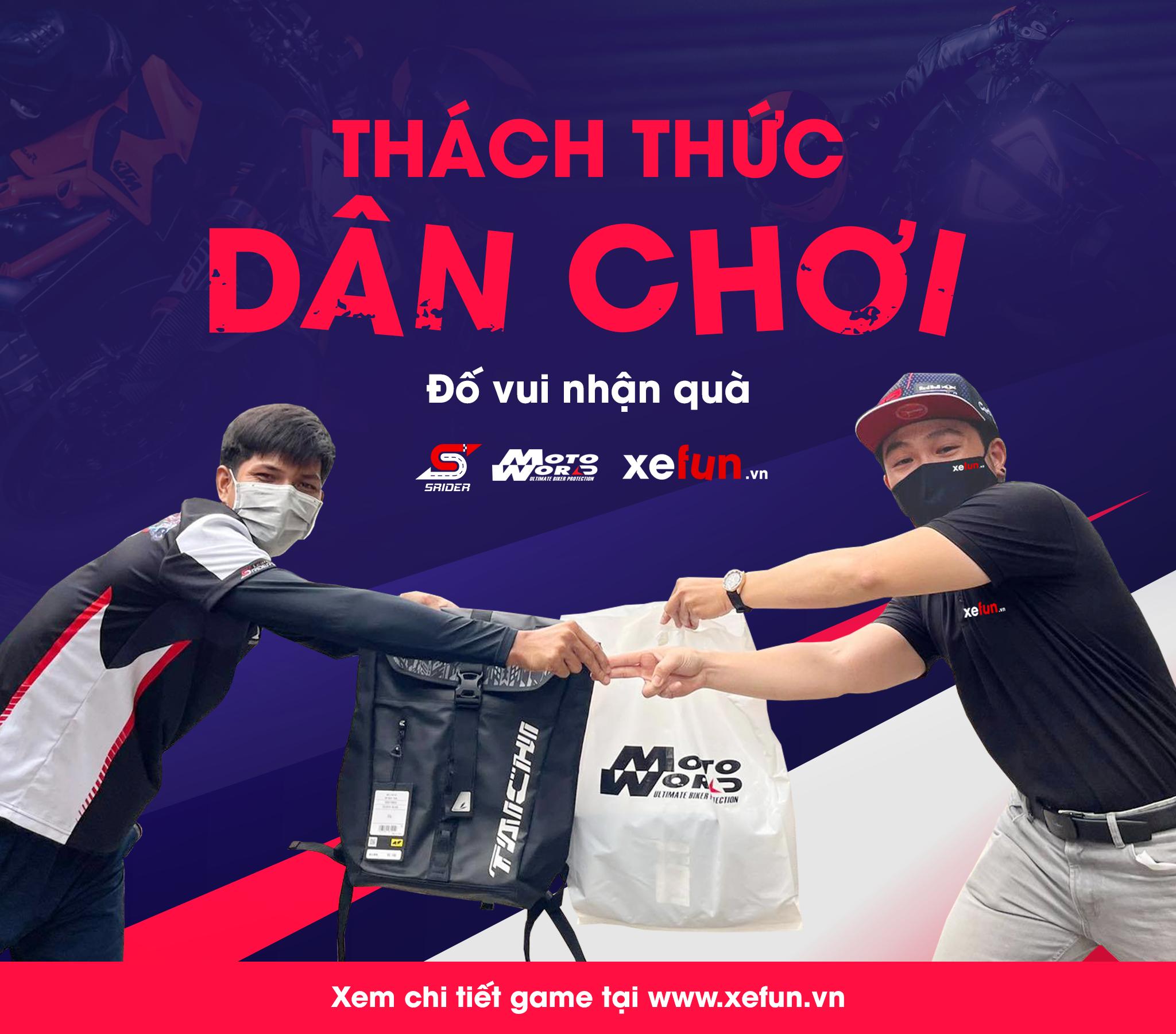 trò chơi nhận quà hấp dẫn từ Motoworld Việt Nam Xefun