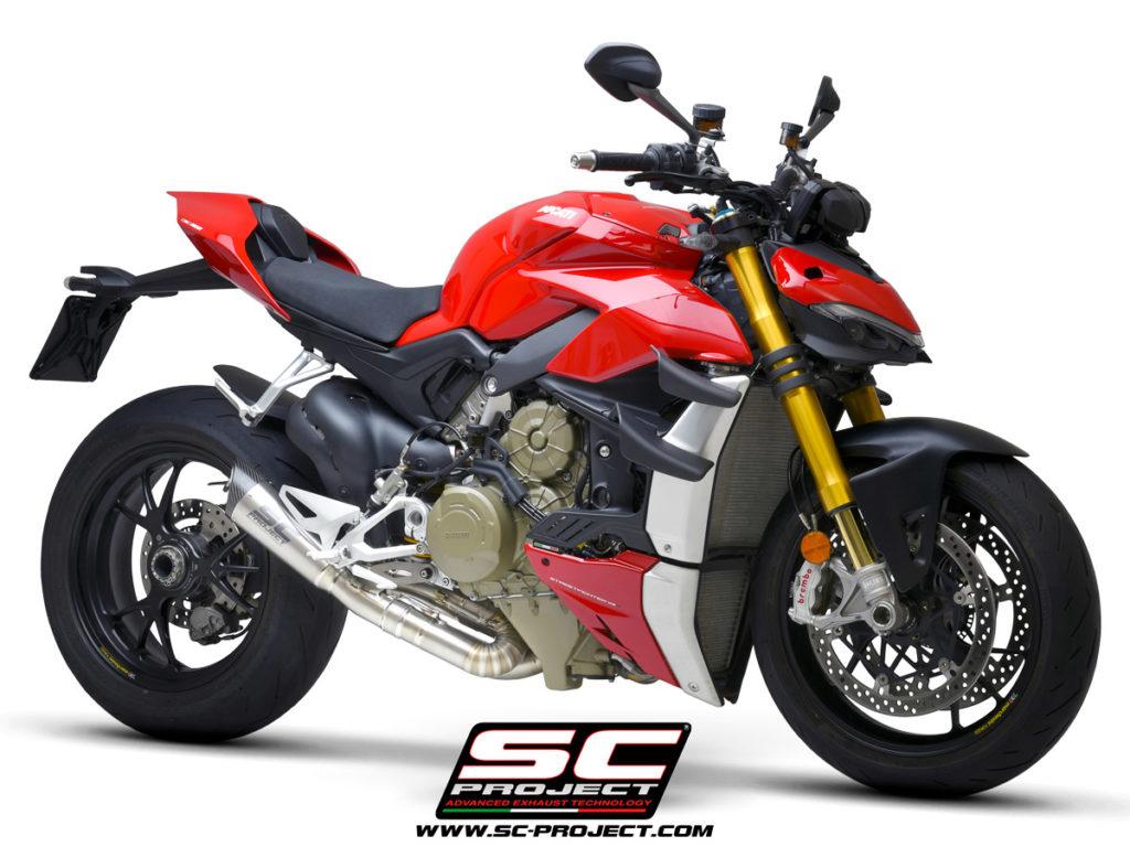 Ống xả SC Project S1 ra mắt dành cho Ducati Streetfighter V4 giảm được 7,3 kg, giá hơn 45 triệu đồng xefun - 3544