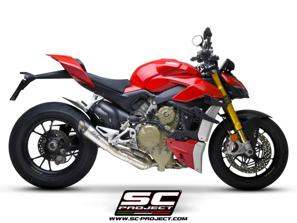 Ống xả SC Project S1 ra mắt dành cho Ducati Streetfighter V4 giảm được 7,3 kg, giá hơn 45 triệu đồng xefun - 3554