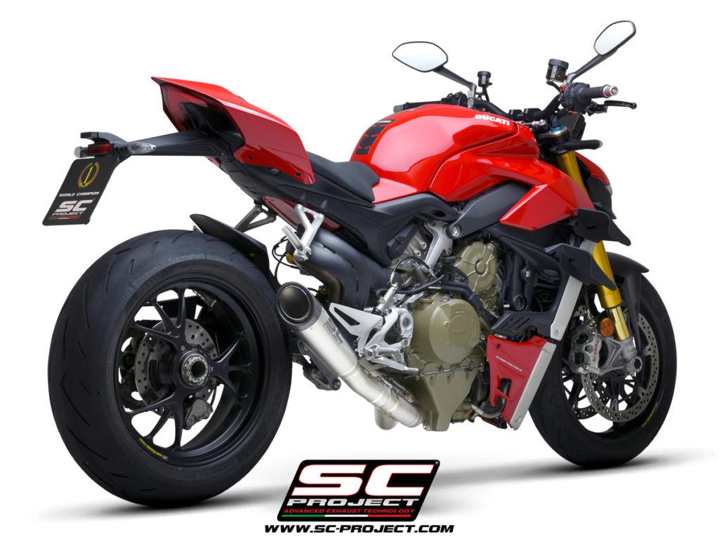 Ống xả SC Project S1 ra mắt dành cho Ducati Streetfighter V4 giảm được 7,3 kg, giá hơn 45 triệu đồng xefun - 354