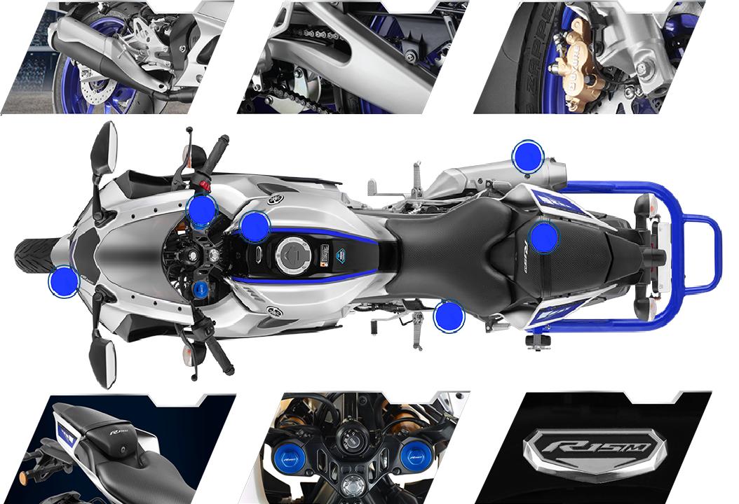 Các trang bị trên Yamaha R15 V4 và R15M 2022