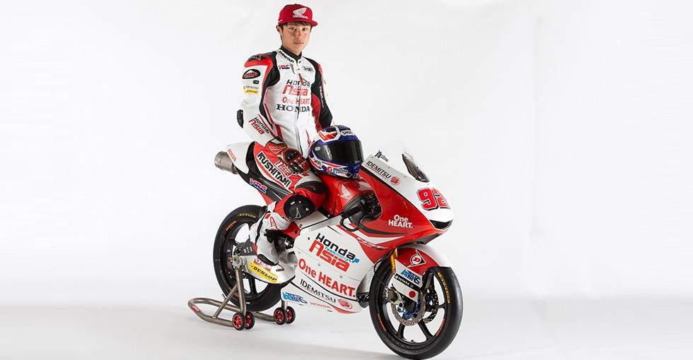 tay đua Yuki Kunii của Honda Team Asia Moto3